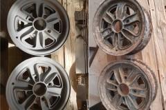Opískování disků na auto před a po