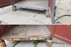 opískování přepravního kontejneru